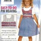 Girls Pin Weave Jumper Sewing Pattern Butterick 4421 Size 5, 6, 6X