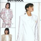 Misses 80s Unlined Jacket Sewing Pattern Butterick 3691 Size 8, 10, 12