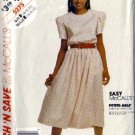 McCalls 5275 Misses 90s Dress Sewing Pattern Size 16, 18, 20