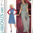 McCalls 5161 Misses Jumper, Jumpsuit Vintage Sewing Pattern Size 14, 16