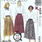 McCalls 4408 Misses Skirt 80s Sewing Pattern Size 8, 10, 12
