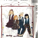 McCalls 5061 Girls Jacket Vest Skirt Pants Sewing Pattern Sz 7, 8, 10