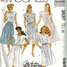 Misses Dress Vintage Sewing Pattern McCalls 3537 Size 22