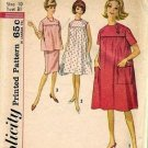 Misses Maternity Dress Top Skirt Sewing Pattern Simplicity 4857 Sz 10