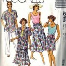 Misses Shirt, Tank, Skirt, Pants Sewing Pattern McCalls 4295 Sz 14, 16