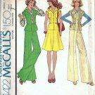 Vintage Sewing Pattern Misses Top Pants Skirt 70s McCalls 4422 Size 14