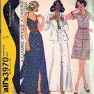 Misses 70s Jacket, Halter, Skirt Sewing Pattern McCalls 3970 Size 12