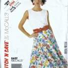 Misses Top Skirt Vintage Sewing Pattern McCalls 3704 Size 12 14 16