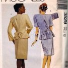 Misses 80s Jacket, Skirt Sewing Pattern McCalls 3529 Size 12