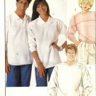 Misses, Mens Gap Pullover Tops Sewing Pattern McCalls 3226 Size Large