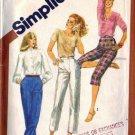 Misses 80s Pants, Capri Sewing Pattern Simplicity 5148 Size 16