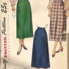 Misses Skirt 40s Vintage Sewing Pattern Simplicity 2624 Waist 26