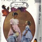 McCalls 5207 Girls Formal Gown, Bag Dress Sewing Pattern Sz 3, 4, 5