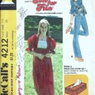 Junior Teen Top Dress Vintage Sewing Pattern McCalls 4212 Size 5/6