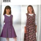 Girls Dress, Top Sewing Pattern Butterick 4726 Size 7, 8, 10
