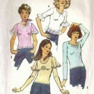 Misses 70s Knit Tops Vintage Sewing Pattern Simplicity 5358 Size 12