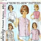 Misses Blouse 60s Vintage Sewing Pattern Simplicity 5285 Size 12