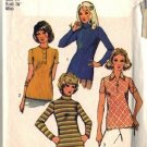 Misses 70s Knit Tops Sewing Pattern Simplicity 5185 Size 14