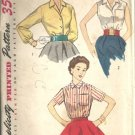 Misses 50s Blouse Vintage Sewing Pattern Simplicity 4256 Size 14