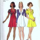Misses Mini Dress 70s Sewing Pattern Simplicity 5499 Size 10