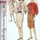 Misses Dress, Jacket 60s Sewing Pattern Simplicity 5168 Size 14 1/2