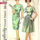 Misses Dress W/2 Skirts 60s Sewing Pattern Simplicity 3853 Size 16 1/2