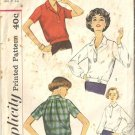Misses 50s Blouse Vintage Sewing Pattern Simplicity 2652 Size 12