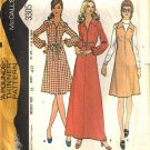 Misses 70s Dress, Jumper Sewing Pattern McCalls 3305 Size 18
