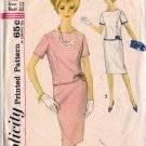 Misses Two-Piece Dress 60s Sewing Pattern Simplicity 4923 Size 12