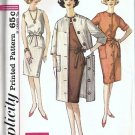 Misses Coat, Dress 60s Sewing Pattern Simplicity 4845 Size 12