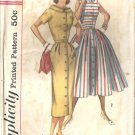 Misses 50s Dress With 2 Skirts Sewing Pattern Simplicity 2111 Size 13