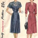 Misses Dress 50s Vintage Sewing Pattern Simplicity 2080 Size 40