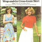 Misses Wrap n Go Skirt 70s Sewing Pattern Butterick 4185 Size Large