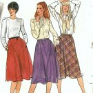 Misses Skirt Vintage Sewing Pattern Butterick 3496 Size 12