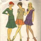 Misses 70s Skirt, Top Retro Sewing Pattern Simplicity 5074 Size 14