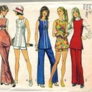 Misses 70s Tunic, Shorts, Pants Sewing Pattern Simplicity 5069 Size 12