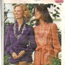 Misses Embroidered Top 70s Sewing Pattern Butterick 4508 Size 14