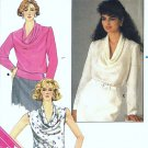 Misses Draped Front Blouse Sewing Pattern Butterick 3470 Size 6, 8, 10