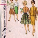 Girls Boxy Blouse, Skirts 60s Sewing Pattern Simplicity 4577 Size 8