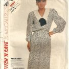 Misses Dress 80s Vintage Sewing Pattern McCalls 3457 Size 12 14 16