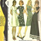 Misses Dress 70s Vintage Sewing Pattern McCalls 3133 Size 14