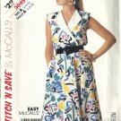 Misses 80s Sleeveless Dress Sewing Pattern McCalls 3045 Size 6, 8, 10