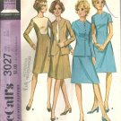 Misses 70s Dress, Jacket Vintage Sewing Pattern McCalls 3027 Size 12