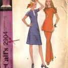 Misses Dress Tunic Pants 70s Vtg Sewing Pattern McCalls 2904 Size 14