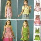 Girls Dress, Top, Skirt Sewing Pattern Simplicity 3770 Size 7, 8, 10, 12, 14
