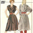 Misses Front Wrap Dress Sewing Pattern Butterick 4537 Size 12