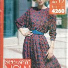 Misses 80s Dress Sewing Pattern Butterick 4260 Size 6 ,8, 10, 12
