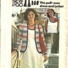 Misses Tank Dress, Jacket 70s Sewing Pattern Butterick 4130 Size 8