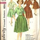 Misses Wrap Skirt, Blouse 60s Sewing Pattern Simplicity 3773 Size 14