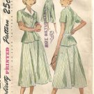 Misses 40s 4-H Club Suit Sewing Pattern Simplicity 3085 Size 14